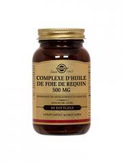 Solgar Complexe d'Huile de Foie de Requin 500 mg 60 Gélules - Flacon 60 gélules