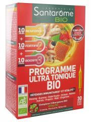 Santarome Bio Programme Ultra Tonique Bio 30 Ampoules - Boîte 30 ampoules x 10 ml