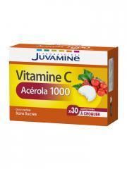 Juvamine Vitamine C Acérola 1000 30 Comprimés à Croquer - Boîte 30 Comprimés