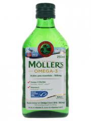 Möller's Omega 3 Huile de Foie de Morue Sans Arôme 250 ml - Bouteille 250 ml
