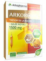 Arkopharma Arko Royal Trésor de la Ruche Gelée Royale 1500 mg Bio 20 Ampoules + 10 Ampoules Offertes - Lot 20 Ampoules x 10 ml + 10 Ampoules x 10 ml