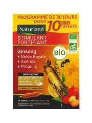 Naturland Stimulant Fortifiant Bio 20 Ampoules de 10 ml + 10 Ampoules Offertes - Lot 30 ampoules x 10 ml