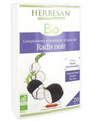 Herbesan Bio Radis Noir 20 Ampoules de 15 ml - Boîte 20 Ampoules de 15 ml