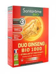 Santarome Bio Duo Ginseng Bio 1000 20 Ampoules - Boîte 20 Ampoules de 10 ml