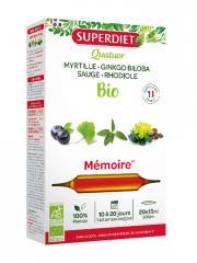 Super Diet Quatuor Myrtille, Rhodiole, Ginkgo Biloba, Sauge Bio 20 Ampoules - Boîte 20 ampoules de 15 ml