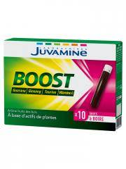Juvamine Boost Ginseng Guarana Taurine et Vitamine C 10 Shots - Boîte 10 Shots