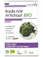 Nutrivie Radis Noir Artichaut Bio 20 Ampoules - Boîte 20 Ampoules de 15 ml