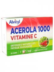 Alvityl Acérola 1000 Vitamine C 30 Comprimés à Croquer - Boîte 30 comprimés