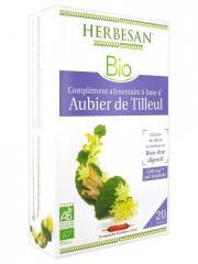Herbesan Aubier de Tilleul Bien-Être Digestif Bio 20 Ampoules - Boîte 20 ampoules x 15 ml