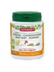 Super Diet Quatuor Fenouil Digestion Bio 150 Gélules - Boîte plastique 150 gélules