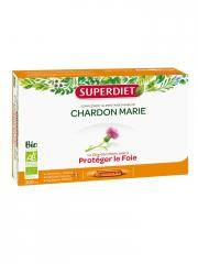 Super Diet Chardon Marie Bio 20 Ampoules - Boîte 20 ampoules de 15 ml