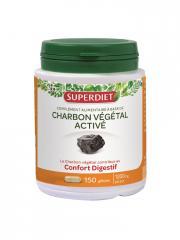 Super Diet Charbon Végétal Activé 150 Gélules - Boîte plastique 150 gélules