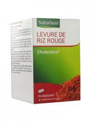 Naturland Levure de Riz Rouge 75 Végécaps - Boîte plastique 75 végécaps