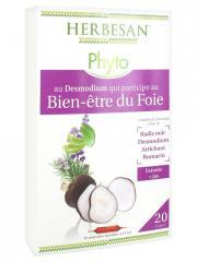 Herbesan Phyto Complexe Desmodium Bien-Être du Foie 20 Ampoules de 15 ml - Boîte 20 Ampoules de 15 ml