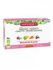 Super Diet Quatuor Bardane Beauté de la Peau Bio 20 Ampoules - Boîte 20 ampoules de 15 ml