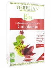Herbesan Bio Complexe Ginkgo Circulation 20 Ampoules de 15 ml - Boîte 20 ampoules de 15 ml