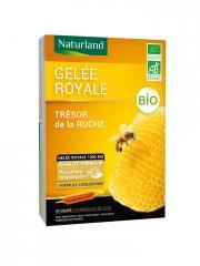 Naturland Gelée Royale Bio 20 Ampoules de 10 ml - Boîte 20 ampoules de 10 ml