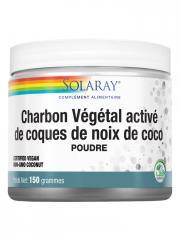 Solaray Charbon Végétal Activé de Coques de Noix de Coco Poudre 150 g - Pot 150 g