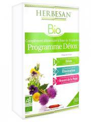 Herbesan Bio Programme Détox 30 Ampoules de 15 ml - Boîte 30 ampoules de 15 ml