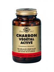 Solgar Charbon Végétal Activé 100 Gélules Végétales - Flacon 100 gélules