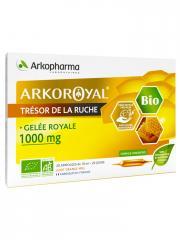 Arkopharma Arko Royal Trésor de la Ruche Gelée Royale 1000 mg Bio 20 Ampoules - Boîte 20 Ampoules de 10 ml