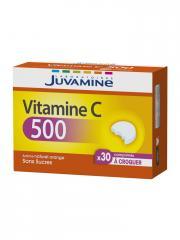 Juvamine Vitamine C 500 30 Comprimés à Croquer - Boîte 30 Comprimés