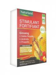 Naturland Stimulant Fortifiant Bio 20 Ampoules de 10 ml - Boîte 20 Ampoules de 10 ml