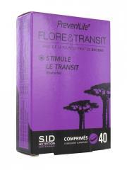 S.I.D Nutrition PreventLife Flore&Transit; 40 Comprimés - Boîte 40 comprimés