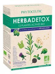 Phytoceutic Herbadetox 12 Plantes Actives Bio 20 Ampoules - Boîte 20 ampoules de 10 ml