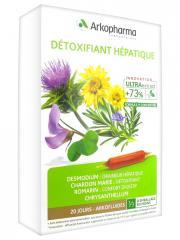 Arkopharma Arkofluides Détoxifiant Hépatique 20 Ampoules - Boîte 20 ampoules de 15 ml
