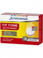 Juvamine Top Forme Multivitamines 30 Comprimés Effervescents - Boîte 30 Comprimés Effervescents