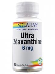 Solaray Ultra Zéaxanthine 6 mg 30 Capsules Végétales - Boîte plastique 30 capsules