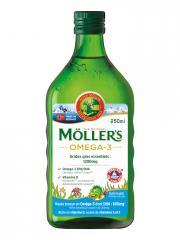 Möller's Omega 3 Huile de Foie de Morue Arôme Tutti Frutti 250 ml - Bouteille 250 ml