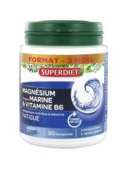 Super Diet Magnésium d'Origine Marine + Vitamine B6 90 Comprimés - Boîte 90 comprimés