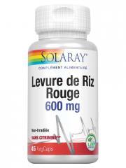 Solaray Levure de Riz Rouge 600 mg 45 Capsules Végétales - Boîte 45 capsules