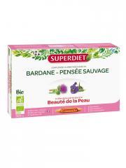 Super Diet Bardane Pensée Sauvage Bio 20 Ampoules - Boîte 20 ampoules de 15 ml