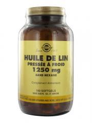 Solgar Huile de Lin Pressée à Froid 1250 mg 100 Gélules - Flacon 100 gélules