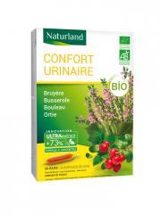Naturland Confort Urinaire Bio 20 Ampoules Buvables de 10 ml - Boîte 20 Ampoules de 10 ml
