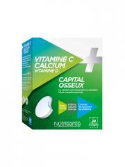 Nutrisanté Vitamine C Calcium Vitamine D 24 Comprimés à Croquer - Boîte 24 Comprimés
