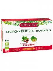 Super Diet Marronnier d'Inde Hamamélis Bio 20 Ampoules - Boîte 20 ampoules de 15 ml