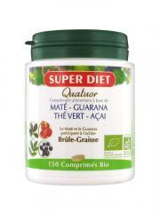 Super Diet Quatuor Maté Brûle-Graisse Bio 150 Comprimés - Boîte 150 comprimés