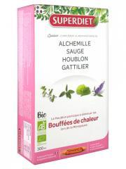 Super Diet Quatuor Bouffées de Chaleur Bio 20 Ampoules - Boîte 20 ampoules x 15 ml