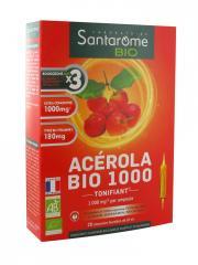 Santarome Bio Acérola Bio 1000 20 Ampoules - Boîte 20 Ampoules de 10 ml