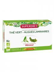 Super Diet Thé Vert Algues Laminaires Bio 20 Ampoules - Boîte 20 ampoules de 15 ml