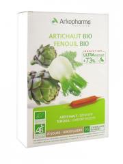 Arkopharma Arkofluides Artichaut Fenouil Bio 20 Ampoules - Boîte 20 ampoules