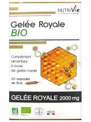 Nutrivie Gelée Royale Bio 20 Ampoules - Boîte 20 Ampoules de 15 ml