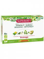 Super Diet Quatuor Pissenlit Drainage Bio 20 Ampoules - Boîte 20 Ampoules de 15 ml