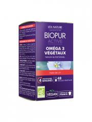 Biopur Active Oméga 3 Végétaux 48 Gélules Végétales - Boîte 48 Gélules Végétales