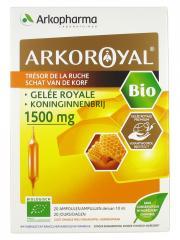 Arkopharma Arko Royal Trésor de la Ruche Gelée Royale 1500 mg Bio 20 Ampoules - Boîte 20 ampoules