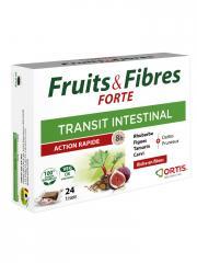 Ortis Fruits & Fibres Forte Transit Intestinal 24 Cubes - Boîte 24 cubes